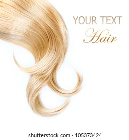 Healthy Blond Hair isolated on white