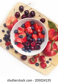 Healthy breakfast with berry mix
