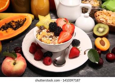 Fruit Bowl Breakfast Images Stock Photos Vectors Shutterstock