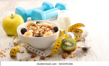 healthy breakfast, diet food concept