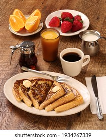Healthy breakfast  on a wooden background. The concept of delicious and healthy food.