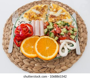 Healthy breakfast plate