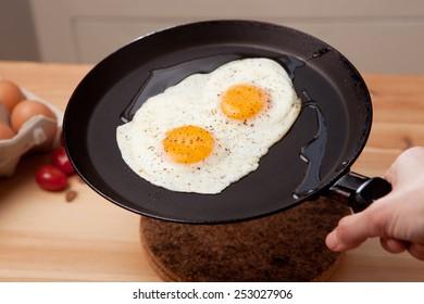 Healthy breakfast. Scrambled eggs