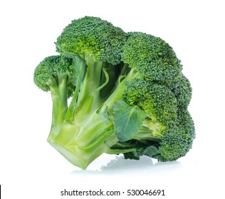 Healthy brocoli isolated on white