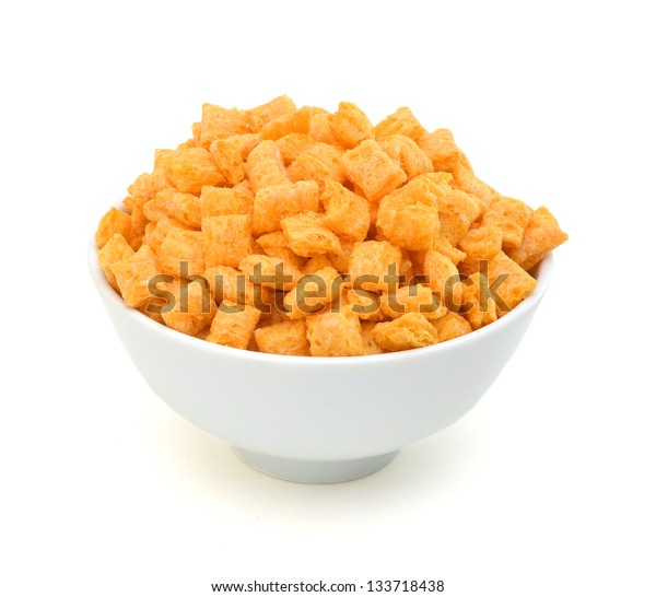 healthy cereal in bowl on white