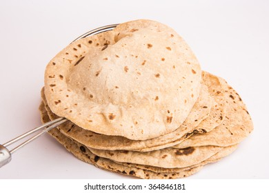 healthy chapati or indian flat bread made up of wheat flour, selective focus