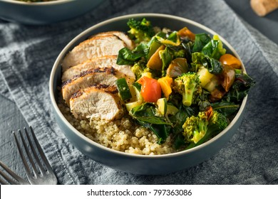 Healthy Chicken and Quinoa Bowl with Roasted Veggies