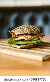 healthy chicken  sandwich
