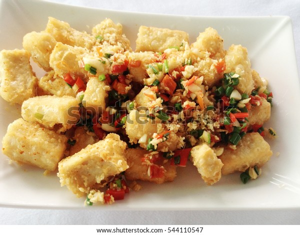 Healthy Chinese Food Fried Tofu Hot Stock Photo Edit Now