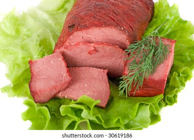 Healthy combination of fresh lettuce and beef meat