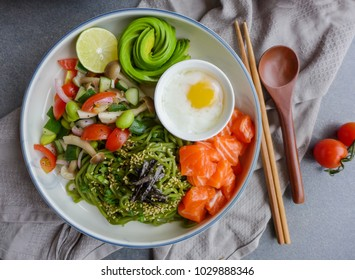 Healthy and delicious homemade meal / Cha Soba with Salad / Made with very fresh ingredients for healthier lifestyle