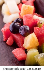 healthy delicious tropical fruit salad