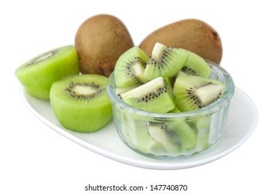healthy dessert, kiwi fruit.