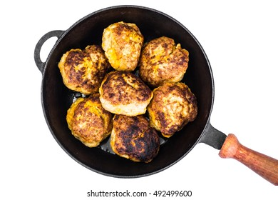Healthy and Diet Food: Chicken Cutlets with Pumpkin. Studio Photo