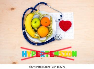 Healthy diet. Fresh fruit plate. Preventing hypertension