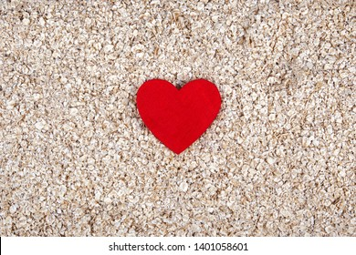Healthy diet with traditional oats - food concept - love for health, porridge, good nutrition, oats or your heart!