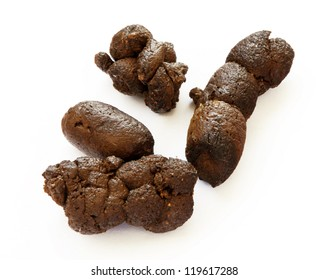 Healthy dog poop on isolated background