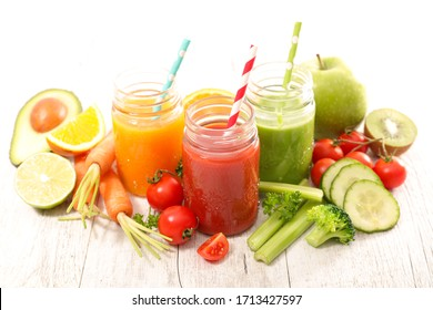 healthy drink, fruit and vegetable smoothie