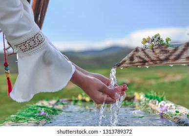 healthy drinkable spring water