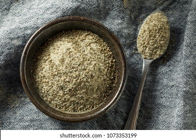 Healthy Dry Organic Celery Salt in a Bowl