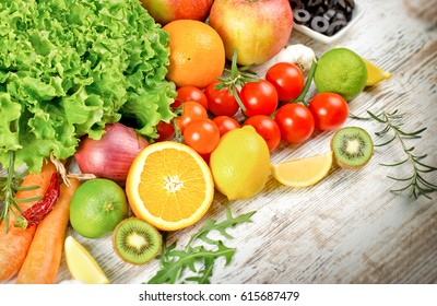 Healthy eating, healthy diet - fresh organic fruit and vegetable