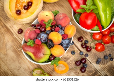 Healthy eating, healthy diet, eating fresh organic fruits and vegetables