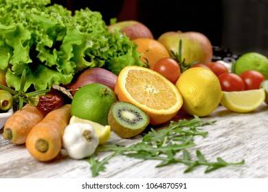 Healthy eating, healthy diet - organic fruit and vegetable