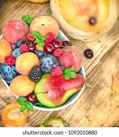 Healthy eating, healthy food - fresh organic fruit