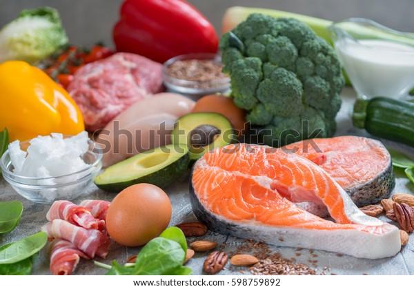 健康食品低炭水化物ケト原因性食事計画タンパク脂肪