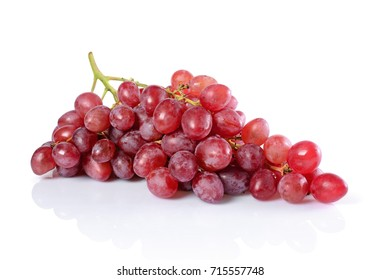 Healthy food. Close-up view fresh ripe bunch of grape isolated on white background