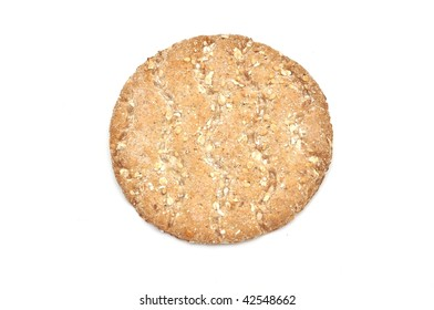 Healthy food: crispbreads isolated over white