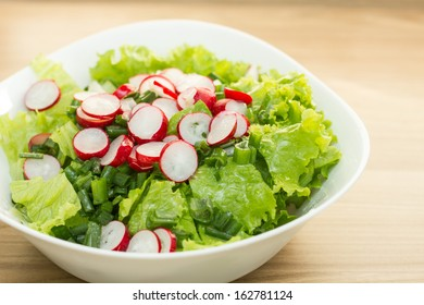 Healthy food fresh green salad.