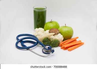 Healthy food for the heart on a white background.