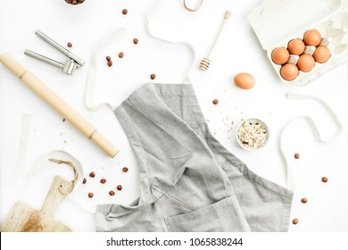 Healthy food ingredients. Cooking concept. Flat lay, top view.