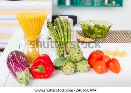 Healthy Food Kitchen | Healthy Food Kitchen Stock Photo Edit Now 240650494 Shutterstock