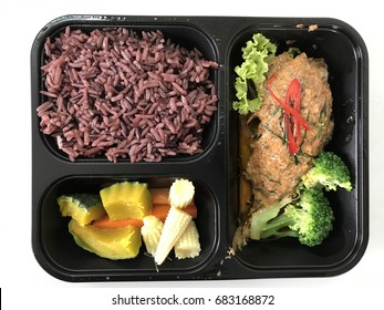 healthy food in a meal box