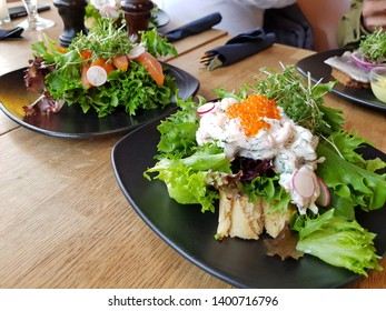 Healthy food served on table, light meal and nourishment concept.