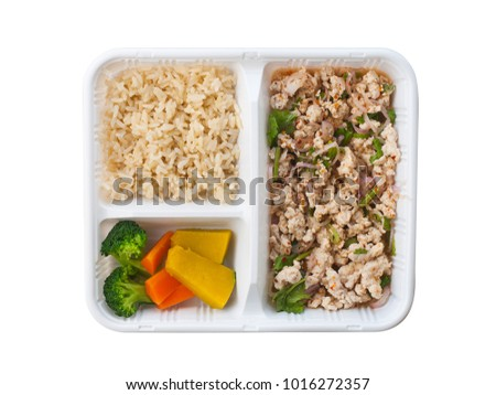 Healthy Food Spicy Minced Chicken Breast Stock Photo Edit Now