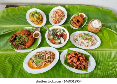 Healthy food that is spicy in the northeast of Thailand