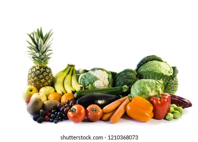 Healthy food vegetables isolated isolated on white background, cut out