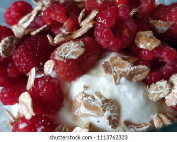 Healthy fresh breakfeat with strawberry