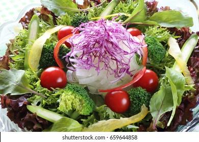 Healthy fresh salad