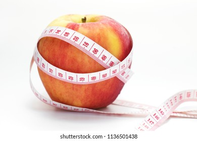 Healthy fruit concept,Red Apple fruit on white background.