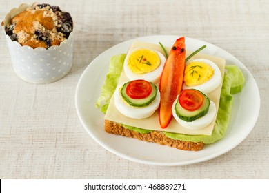 Healthy and fun food for kids, butterfly  sandwich