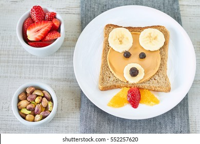 Healthy and fun snack for kids,peanut butter and banana sandwich