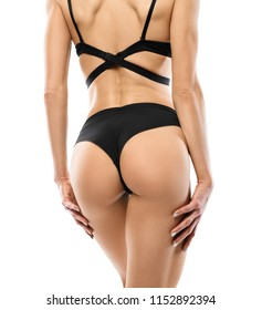 Healthy Girl With Fit Body, Soft Skin, Tight Hips And Firm Buttocks In Bikini