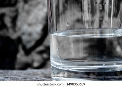 Healthy glass of water background