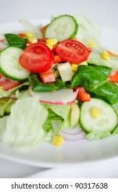 Healthy green salad