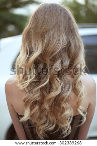 Healthy Hair Curly Long Hairstyle Back Stock Photo Edit Now