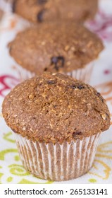 Healthy high fiber gluten free flax muffins
